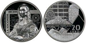 2019 France 20€ La Joconde Mona Lisa Silver HR Coin PCGS PR69DCAM BOA 2804/3000