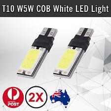 2 x COB T10 WHITE LED W5W CAR PARKER WEDGE LIGHT SIDE BULB WORK LAMP DC 12V AUS