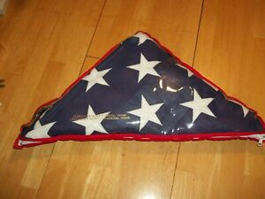 Memorial Flag American US Flag 5x9.5 Ft for Veteran USA Burial Casket Flag