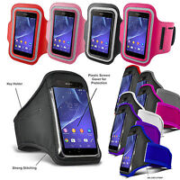 GYM Work Out Sports Running ARMBAND Cover Key Holder For Various Sony Xperia