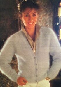 """Ladies Mohair Cardigan (32"""" - 42"""") Knitting Pattern"""