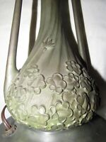 Miller Lamp Co. Slag Glass Base ,Heavy BRONZE( rare) BEAUTIFUL PATINA