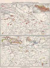 MINERALIEN Erze Kohle Erdöl Gold Silber Deutschland Karte um 1906 Bodenschätze