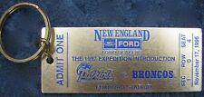1997 New England Ford Dealers - 11/17/1996 Patriots vs. Broncos Souvenir Ticket