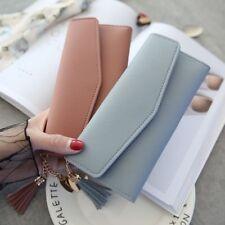 Fashion Women Zipper Wallet Holder Trifold Clutch Envelope Leather Handbag Purse