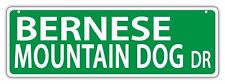 Plastic Street Signs: BERNESE MOUNTAIN DOG DRIVE  - Dogs, Gifts, Home Decor