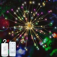 Twinkle Firework LED Fairy String Light 8 Modes + Remote Christmas Party Decor