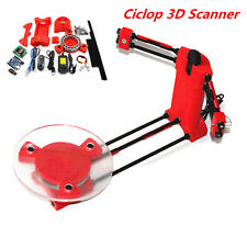 3D Scanner DIY Kit Open Source Object Scaning For Ciclop Printer Scan Red New