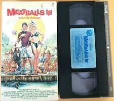 MEATBALLS III (3) Rudy's Big Challenge! VHS Video Movie OOP Patrick Dempsey 1984