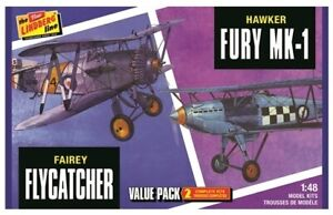 Lindberg: 1/48 Fairey Flycatcher & Hawker Fury 2 Pack