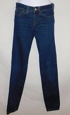 Miss Sixty Skinny Stretch Mid Low rise jeans dark wash leg seam  Women's sz 25