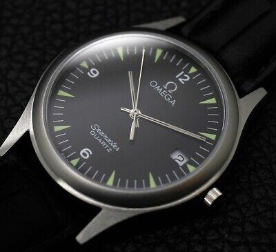 Men's Omega Seamaster Military Calendar Dial Date Silver Bezel1995 Vintage Watch