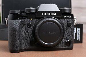 Fujifilm Fuji X-T2 24.3MP Mirrorless Digital Camera Body (Black) with Box