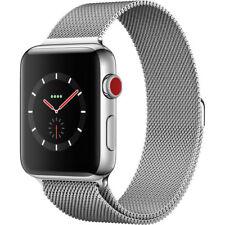 Apple Watch Series 3 42mm Stainless Steel, Milanese Loop (Cellular Unlocked)