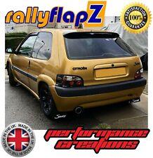 "RallyflapZ Citroen Saxo Mud Flaps /& Kit De Fijación-Negro /'SAXO LOGO /""Blanco 4mm PVC"