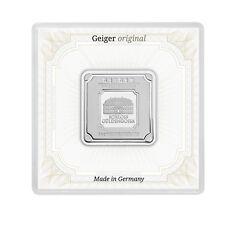 1 OZ Silberbarren / Silver Bar Geiger .999 original quadratisch in Kapsel