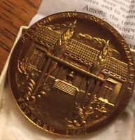 Medallic Art Co Cal. Mission San Jose De Guadalupe Catholic Medallion Mint Cond.