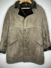 "MENS GENUINE ORIGINAL VINTAGE SHEEPSKIN SHEARLING COAT /JACKET  UK 44 "" ( H3)"