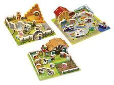 PLAYTIVE JUNIOR Steckpuzzle Echtholz Holzpuzzle Kinderpuzzle Holzspielzeug