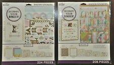 Back to School Binder Stickers 2 Mega Pks Metallic & Pastel Colors 400+ Total