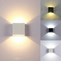 12W Modern COB LED Wall Light Up Down Cube Indoor Outdoor Sconce Lighting Lamp Y