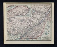 1900 McNally Map - Quebec - Montreal Ottawa Three Rivers St. Lawrence Sherbrooke