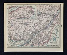 1900 McNally Map - Quebec - Montreal Ottawa Three Rivers St. Lawrence Sherbrooke
