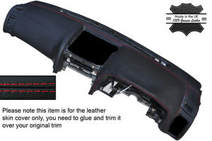 RED STITCH LEATHER DASH DASHBOARD COVER FITS NISSAN SKYLINE R34 GTR GT-T 98-02