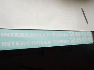 Mitsubishi Shogun Pajero Intercooler turbo 2800 decals stickers x2