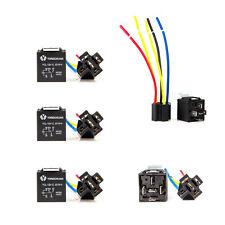 5pcs 12V 30/40 Amp SPDT Relay + Wire Harness Socket For Car Alarm Truck Release