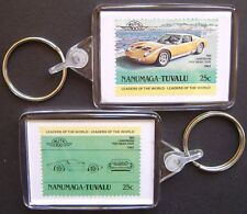 1966 LAMBORGHINI P400 Miura Coupe Car Stamp Keyring (Auto 100 Automobile)