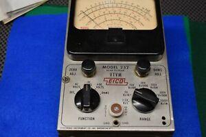 Eico Model 232 (VTVM)  Vacuum Tube Voltmeter for Restoration