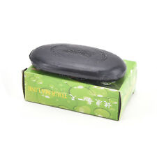 Black Bamboo Charcoal Soap Face Body Clear Anti Bacterial Tourmaline Soap WF