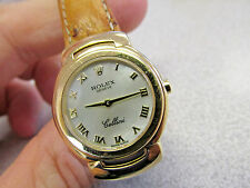 ROLEX LADIES CELLINI QUARTZ 6621 18K YELLOW GOLD 26mm  M.O.P. ROMAN NUMERAL DIAL