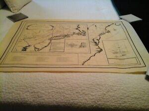 Lexington Alarm - Ride of Israel Bissel 1775 Map NW Cartographic Institute 1975