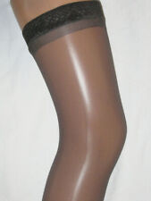 2 pairs Barely Black Sheer Hold Ups Stockings. Size 10-14