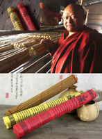 BLESSED TIBETAN NATURAL MEDICINE HERBS INCENSE 30 STICKS BY MONASTERY RED