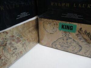 Ralph Lauren VERDONNET Camel Paisley Floral Duvet Cover Bedskirt Set - King