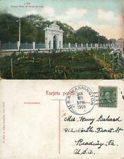 ARTISTICO PORTAL DEL PARQUE DE LIMA PERU 1909 ANTIQUE POSTCARD
