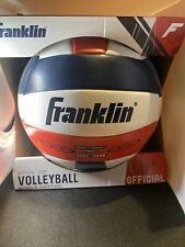 Franklin Sports Official Size Beach Backyard Volleyball White/blue/red Free Ship