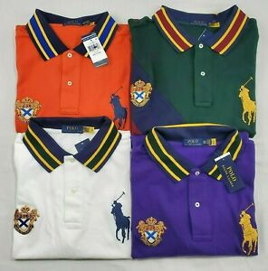 Polo Ralph Lauren Mens Big Pony Crest Mesh Polo Shirt New Big and Tall