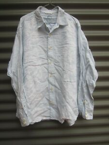 Tommy Bahama Pale Blue Linen Long Sleeve Shirt