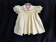Vintage Baby Girl Easter Yellow Smoked Top W Chick Embroidery Size 6m