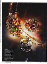 PUBLICITE  2012    CHAUMET collection bijoux collier E GRAND FRISSON