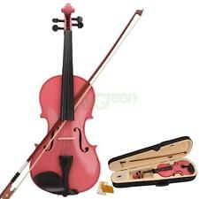 New Acoustic Violin 4/4 Full Size Pink with Case Bow Rosin for Beginner