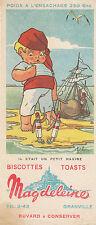 Buvard Vintage  Biscottes Magdeleine   Jeb