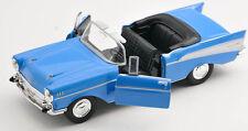 BLITZ VERSAND Chevrolet Chevy Bel Air 1957 Cabrio blau 1:34-39 Welly Modell NEU