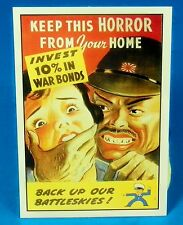 "BUY WAR BONDS KEEP THIS HORROR JAPAN World War II Reprint POSTER 12"" x 18"""