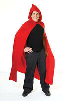 Red Hooded Cape Gothic Devil Red Riding Hood Halloween Fancy Dress