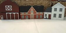 Cat's Meow Lot of3 Fall series Grimm's Farmhouse, Buttery,Mail pouch Barn 1986